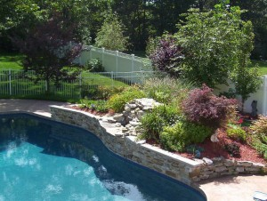 Retaining Wall With Waterfall2